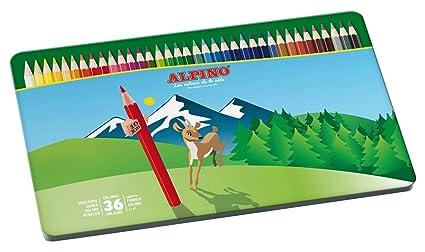 Alpino AL000760 - Estuche metálico de 36 lápices, colores surtidos, 1 unidad