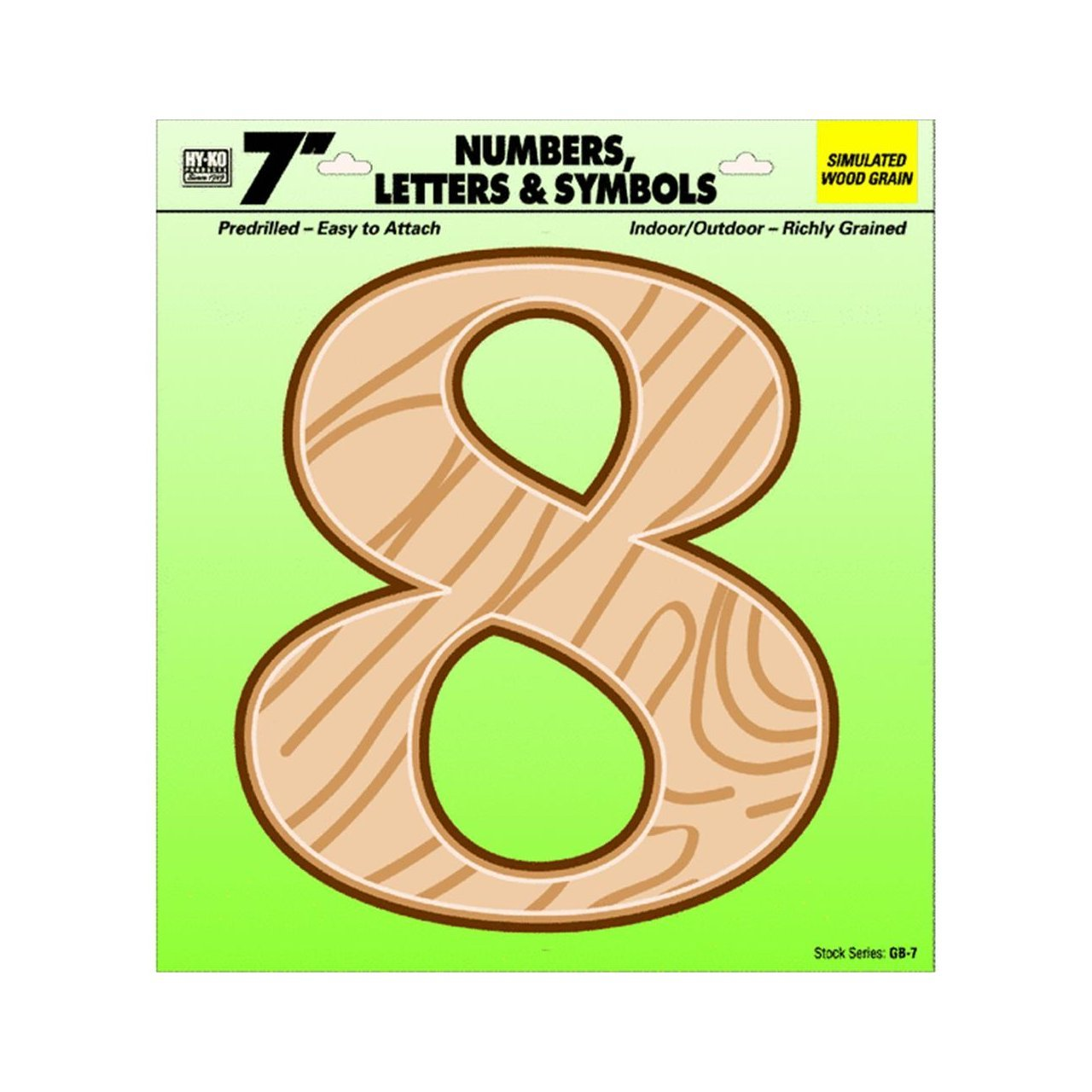 "Hy-ko Gb-7/8 Number 8 7"" Plastic"