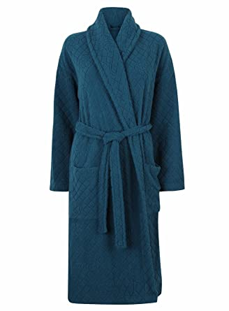 Marks and Spencer Ladies Carved Rose Belted Dressing Gown Robe M S 6  Colours (12- 655fa0e2d