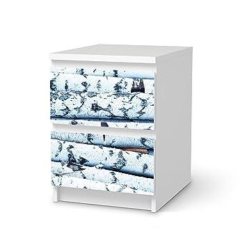 Creatisto Möbel Aufkleber Folie Für Ikea Malm 2 Schubladen | Klebefolie  Dekoration Möbeltattoo | Inneneinrichtung