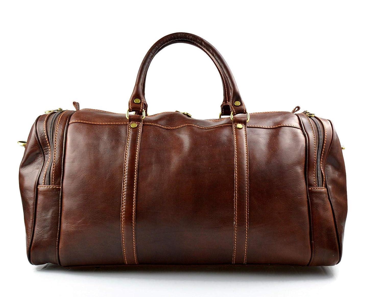 1ca2f5becfd Amazon.com  Mens leather duffle bag brown shoulder bag travel bag luggage  weekender carryon cabin bag gym leather bag women s leather duffel  Handmade