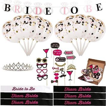 Amazon.com: Bachelorette Kit de fiesta – 10 Bundle Set ...