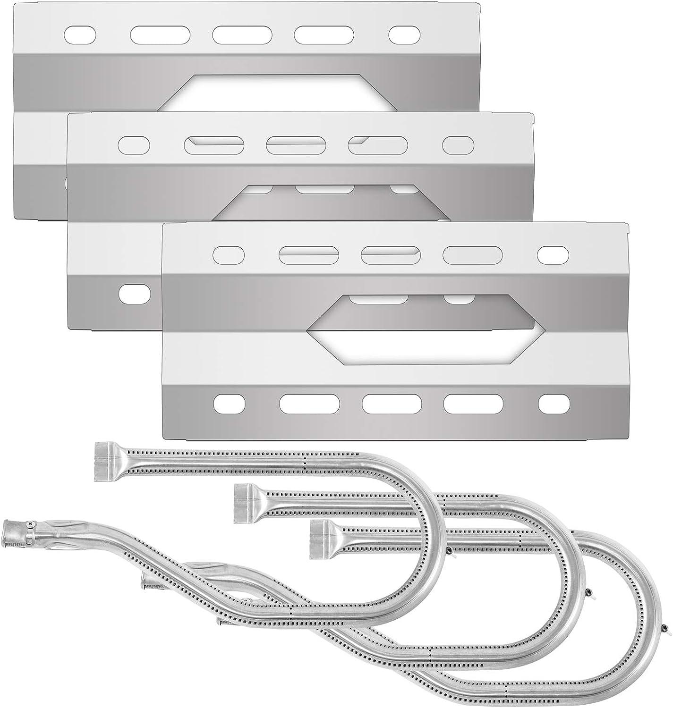 BOLODA 가스 바베큐 그릴 교체 부분 3-PACK 그릴 열 격판덮개 방패막 스테인리스 스틸 버너 그릴 파이프 튜브를 복구 키트 보편적인 불꽃 TAMER 에 대한 그릴 모델 NEXGRILL720-0011 720-0047U