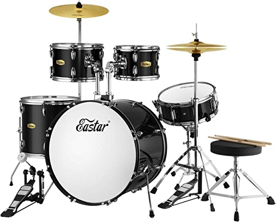 5 Piece Full Size Drum Kit Set