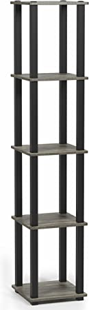 Wood Furinno Toolless Shelves Black//Grey one size