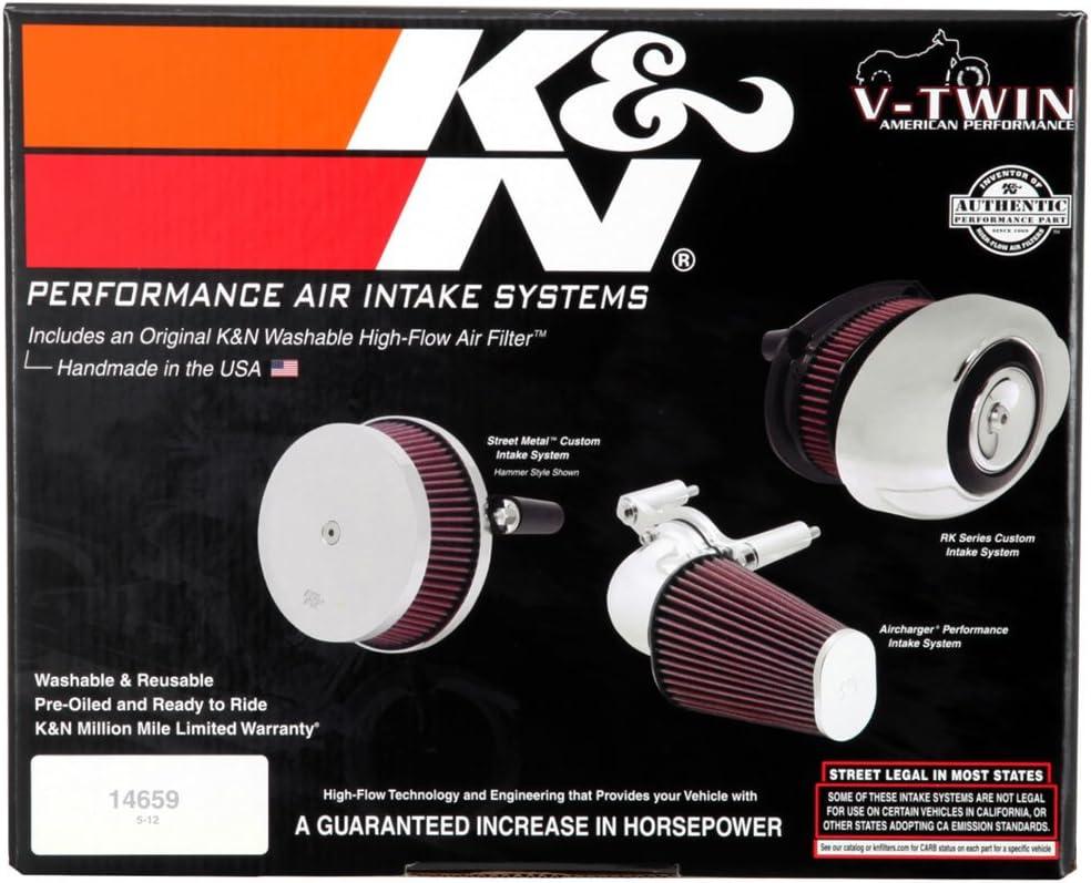 K/&N 63-1126P Moto Kit dadmission Lavable et R/éutilisable