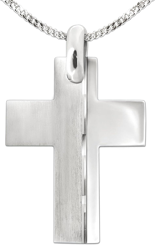 24/x 19/mm set ciondolo a forma di grande ancora con corda in plastica lucida su entrambi i lati Clever Schmuck argento Sterling 925 e pelle