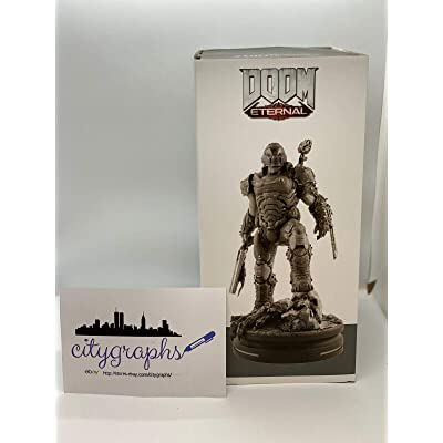 Doom Eternal Modern Icons Doom Slayer Statue Thinkgeek Gamestop Brand New: Entertainment Collectibles