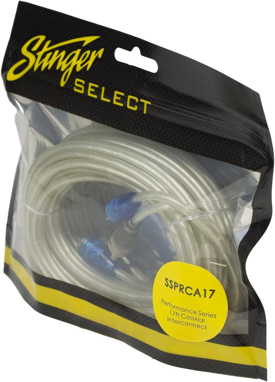 Stinger Select SSRCB12 Audio RCA Interconnect Cable 12 ft 2 Channel Competition