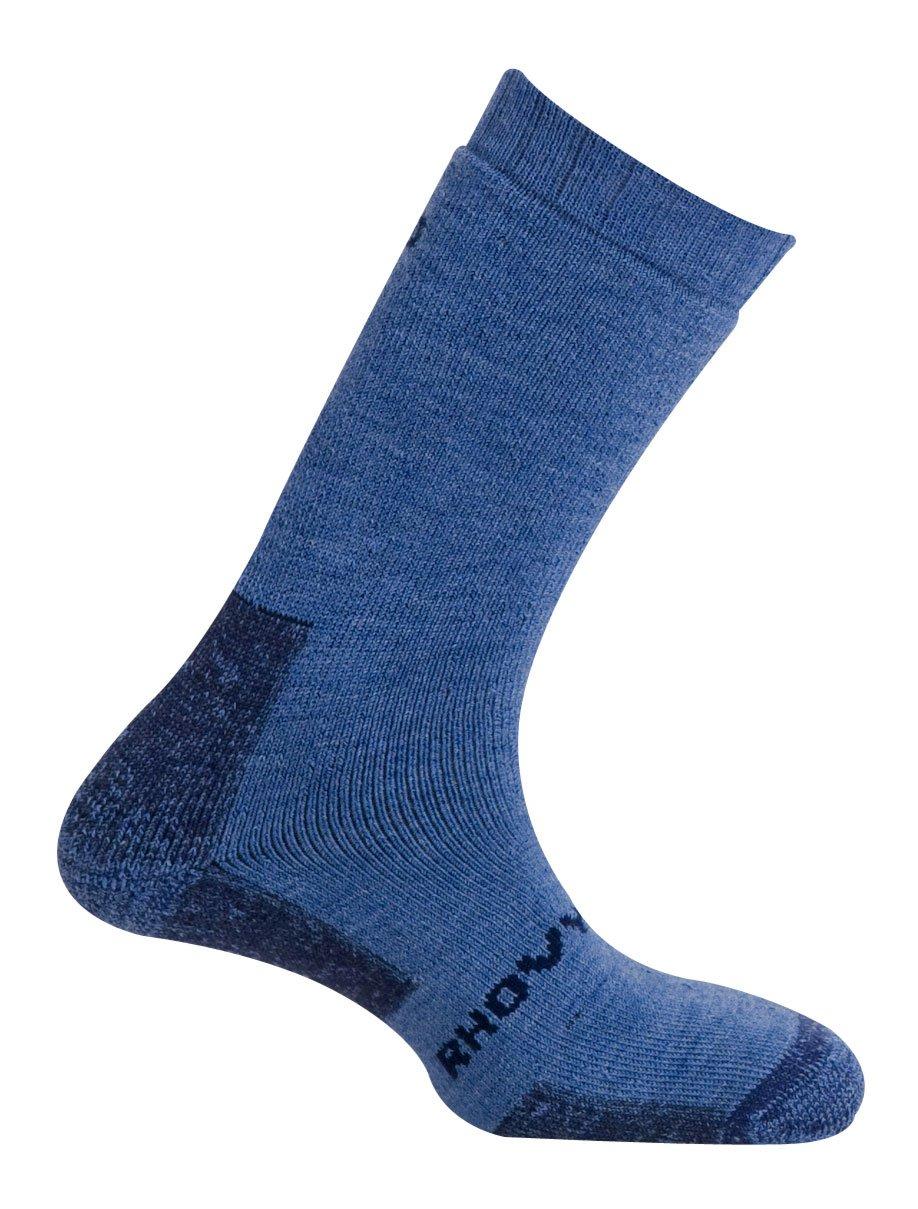 MUND Himalaya Antibacterias Calcetines de Senderismo para Hombre, Azul, XL (46-49)
