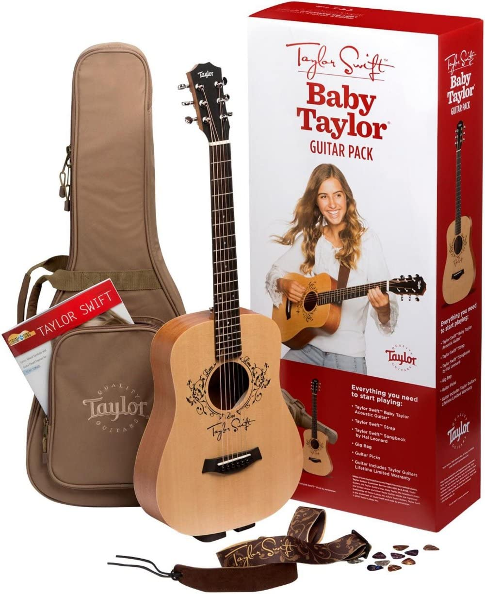 Amazon Com Taylor Swift Signature Baby Taylor Acoustic Guitar Pack Natural Musical Instruments