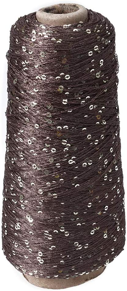 SUPVOX Hilo de ganchillo Hilo de algodón Lentejuelas Hilo artesanal para Crochet Hardanger Punto de cruz Bordado a mano (250 g de café): Amazon.es: Hogar