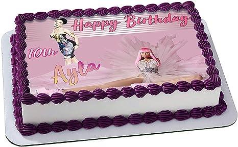 Pleasing Amazon Com Nicki Minaj Edible Cake Image Topper Personalized Personalised Birthday Cards Paralily Jamesorg