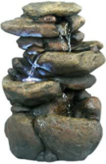 Perfect Alpine WIN472 3 Tier Rock Fountain With LED Light