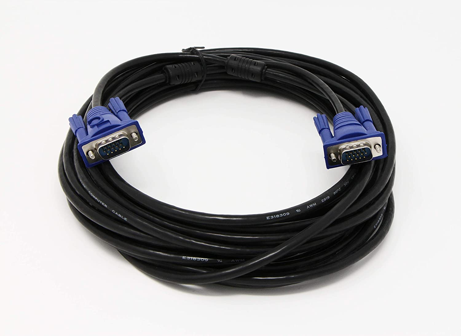 Tupavco Vga Cable 30ft Computer Monitor Projector Pc Wires And Cables Powerpoint Template Is A Free Tv Cord 15 Pin 30 Feet Long Video Tp606 Computers Accessories