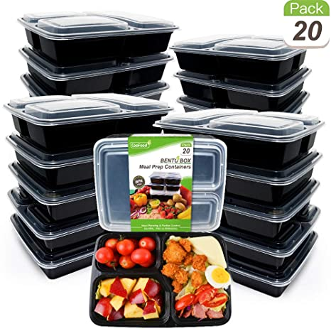 Amazon.com: Paquete de 20 recipientes de comida para ...