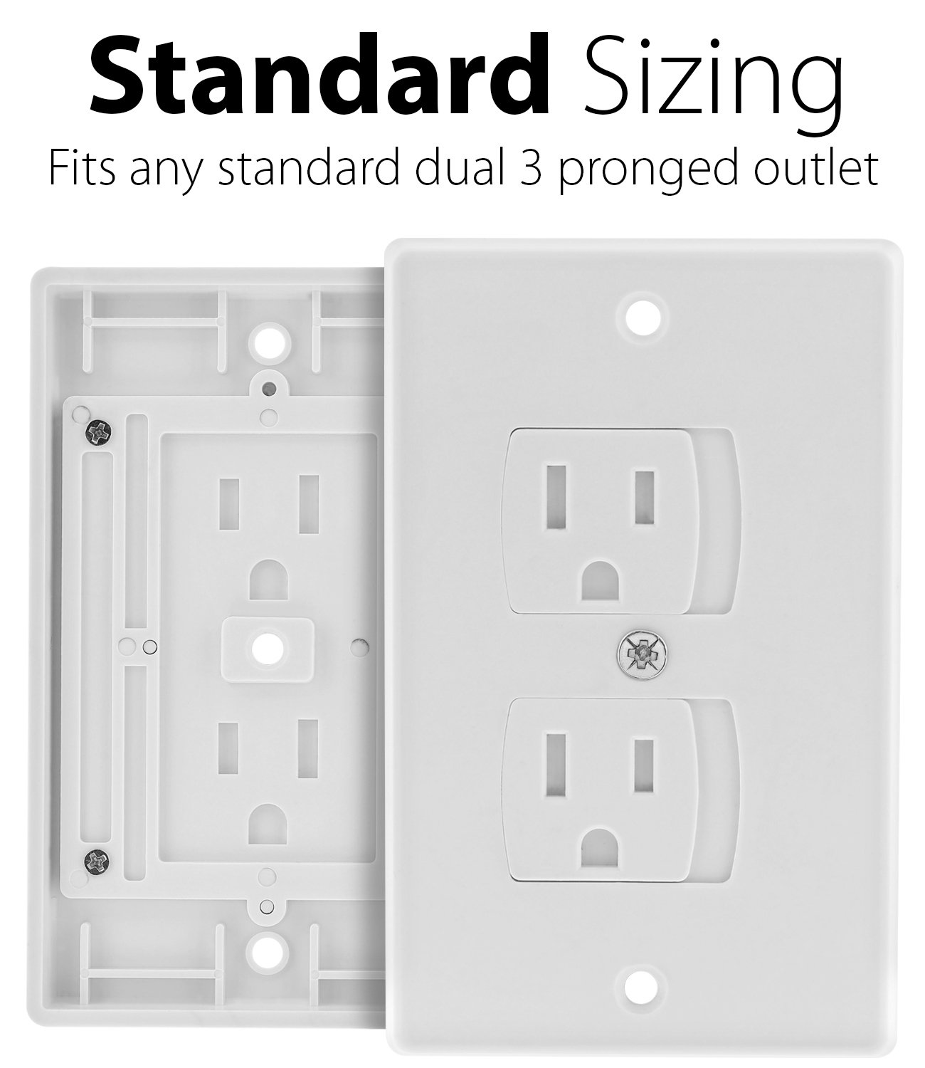 Self-Closing Outlet Cover (4 Pack), Fosmon Baby Guard Standard Wall ...