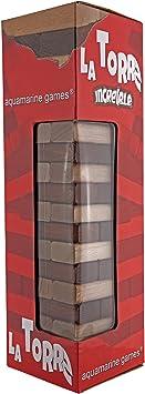 Outletdelocio Torre Jenga, Juego de Equilibrio en Madera Maciza. 51 Piezas. Dado Incluido: Amazon.es: Juguetes y juegos