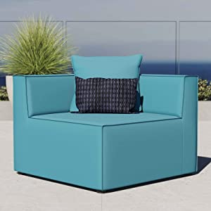 Modway EEI-4210-TUR Saybrook Patio Sectional Corner Chair in Turquoise