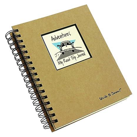 amazon com adventure my road trip journal kraft hard cover