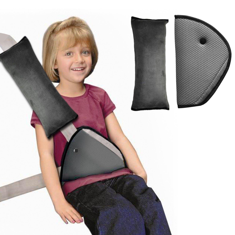 Sangle de ceinture de sécurité, Housse Infreecs enfants Safety Car Ceinture de sécurité Coussinets d'épaule Coussin support de cou avec clip de ceinture de sécurité LBGDHJ-0511
