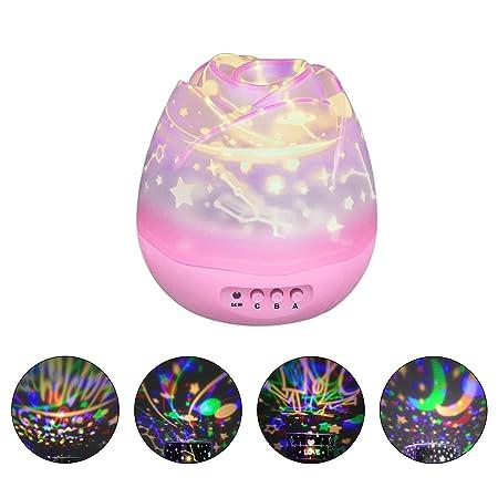 Esonstyle 360 Grados Romántico Luz Nocturna Lámpara Proyector ...