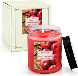 LA BELLEFÉE Apple Pie Cinnamon Scented Candle, Fall Aroma Candles, Fragrance Soy Wax Candles, 1 Pack 7oz, for Home Relaxing Spa, Girls, Women Gifts, Halloween Ball Night Party. Birthday, Christmas