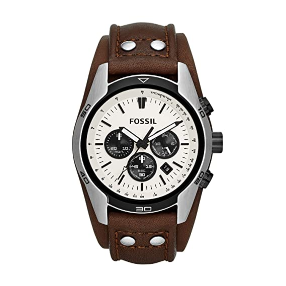 Amazon.com: Fossil Mens CH2890 Coachman Analog Display Analog Quartz Brown Watch: Fossil: Watches