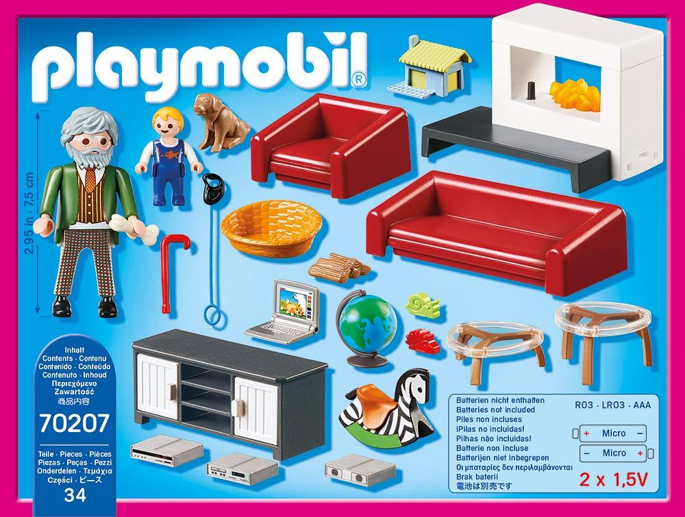 Playmobil 70207 Dollhouse Gem/ütliches Wohnzimmer ab 4 Jahren one Size bunt