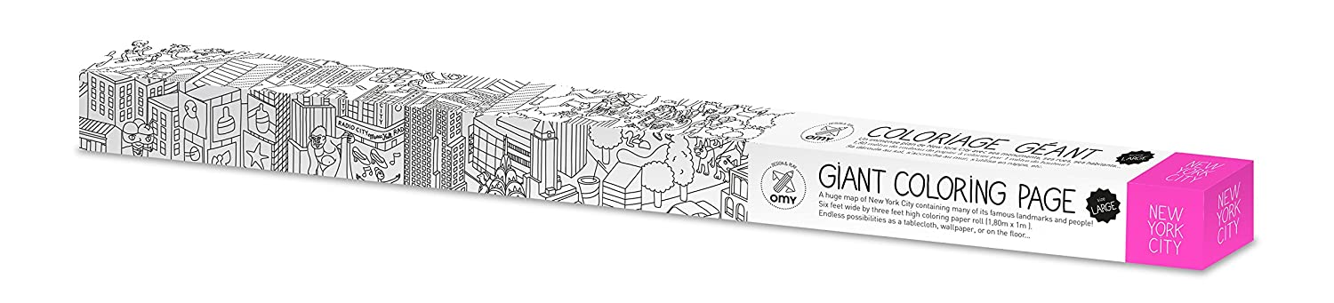 Amazon Com Nyc Coloring Poster Nyc Medium Folded Toys Games