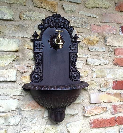 Antikas - lavamanos de Pared jardín - Fuente de Pared jardín - lavamanos con conexión Manguera: Amazon.es: Jardín
