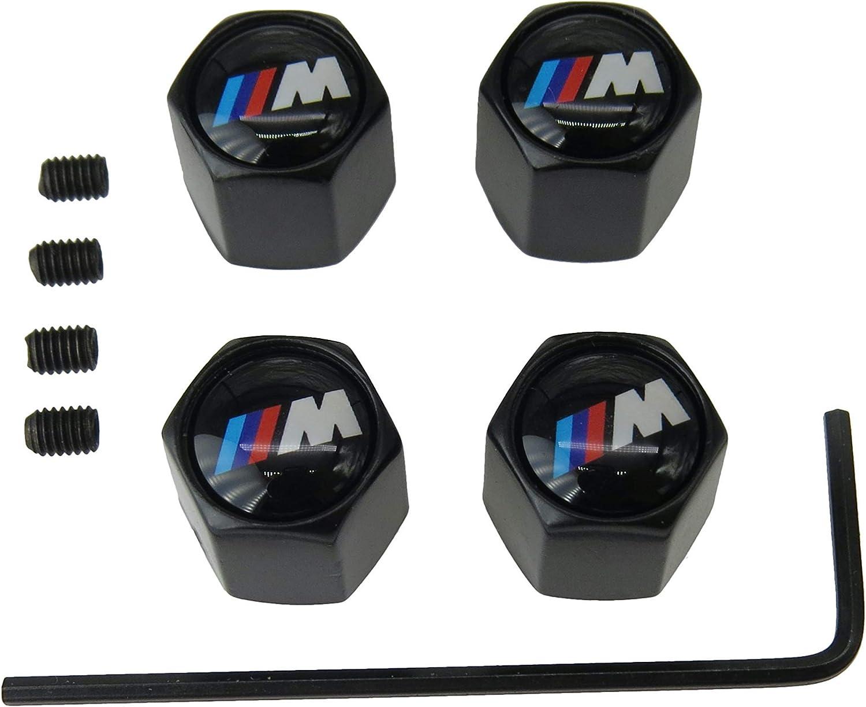 Sentinel Sport Tapón Deportivo de válvula Universal Antirrobo en aleación de Cobre para Neumático (4 Unidades, Color Negro) Compatible con Todos los Modelos