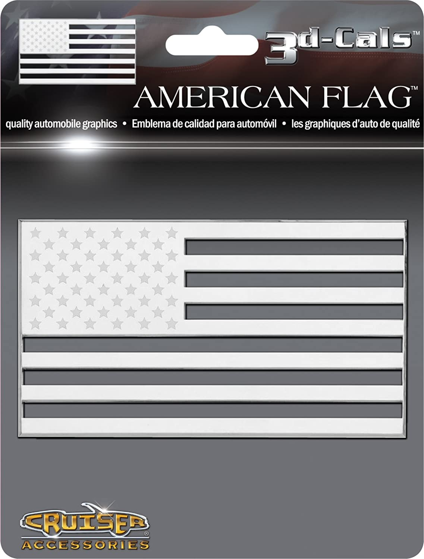 Chrome Cruiser Accessories 83083 American Flag 3d-Cals Raised Adhesive Decal