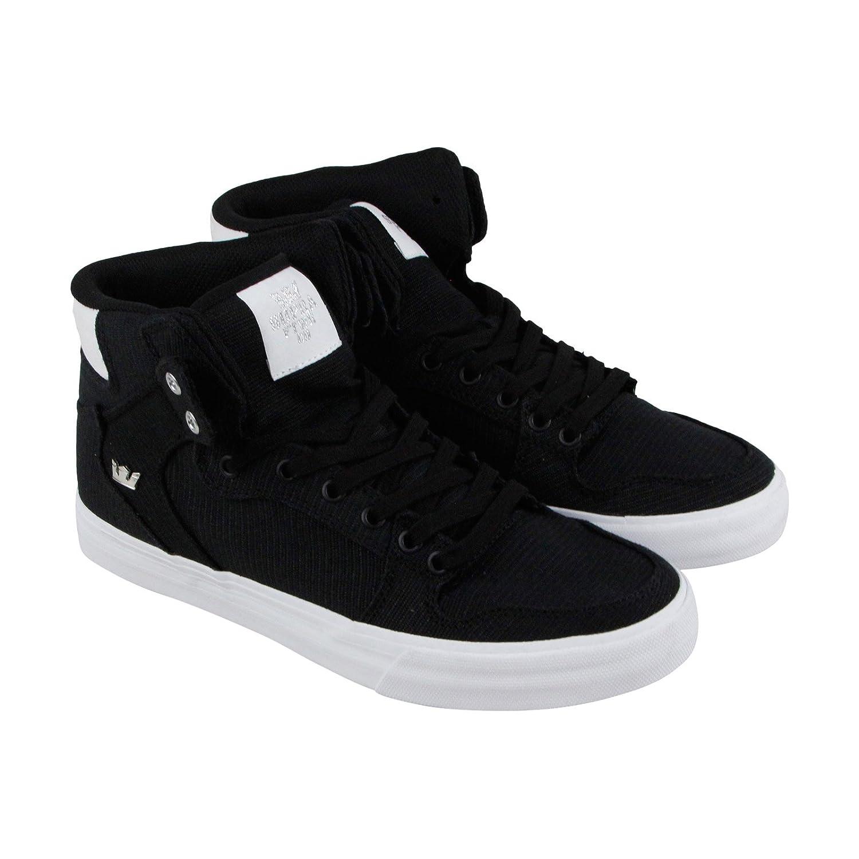 Supra Vaider Skate Shoe B07FFCGLFG 7 M US|Black/Silver-white