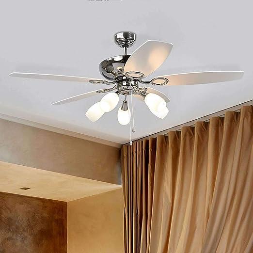 Ventilador de techo con lámpara Cedrik en Blanco hecho de Madera ...