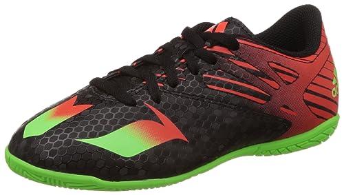 adidas Messi 15.4 IN J, Botas de fútbol Unisex niños, Negro/Verde/Rojo (Negbas/Versol/Rojsol), 28 EU: adidas Performance: Amazon.es: Zapatos y complementos