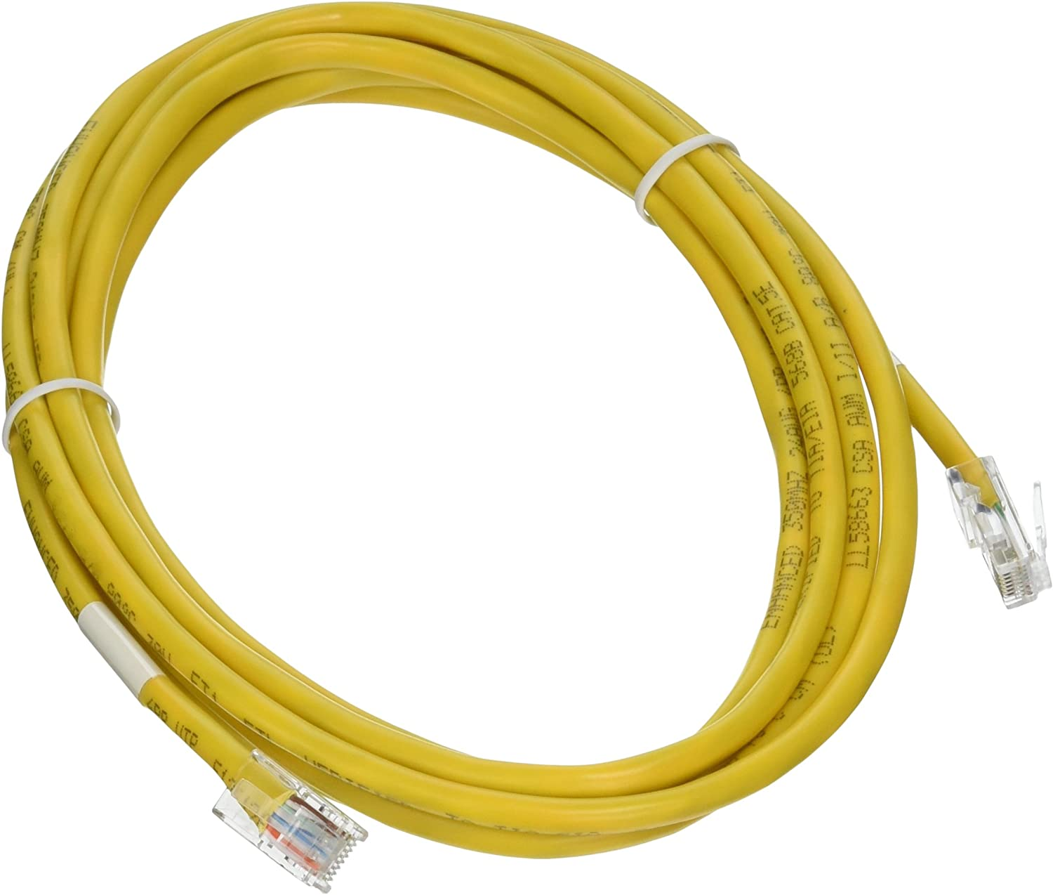 25 Foot Color:Yellow Snagless//Molded Boot Cat5e Yellow Ethernet Patch Cable Sonovin