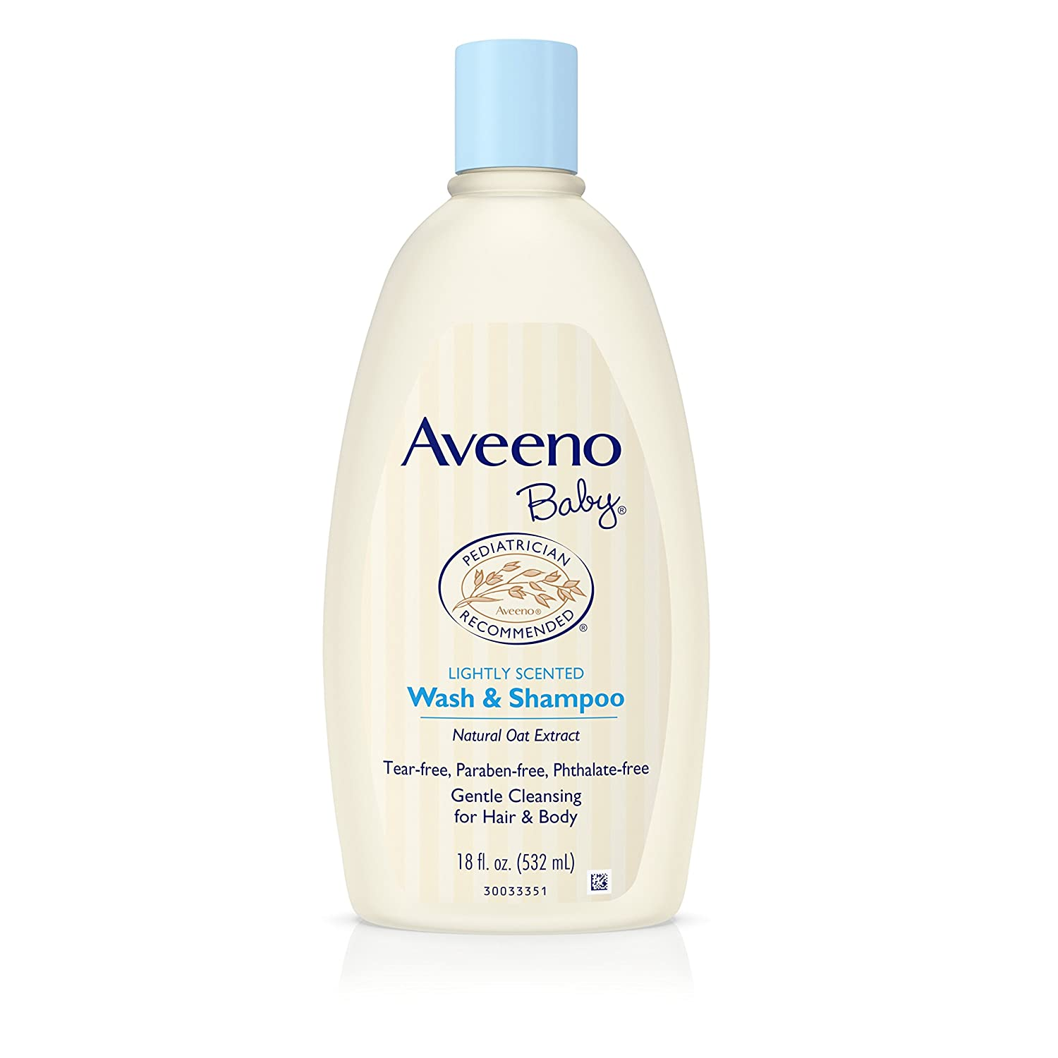 Aveeno Baby Gentle Wash & Shampoo with Natural Oat Extract, Tear-Free &, Lightly Scented, 18 fl. oz 381371023905