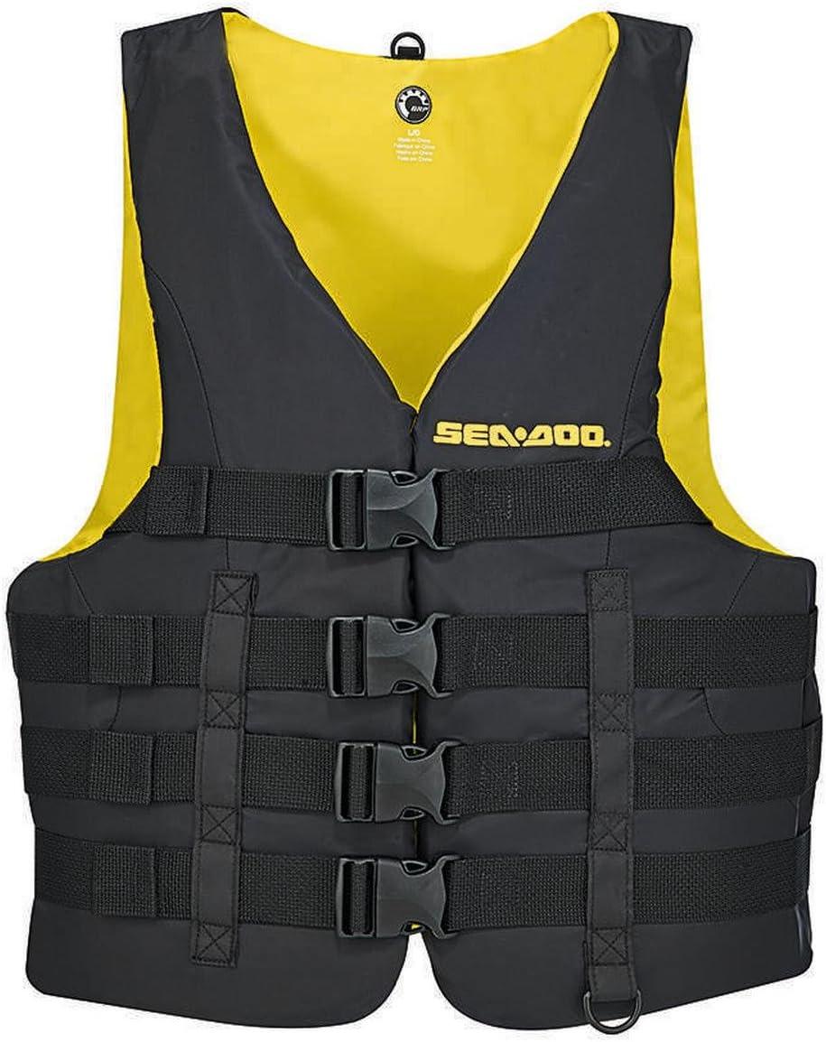 BRP Sea-Doo Men's Nylon Motion PFD Life Vest Jacket (X-Large, 黒)