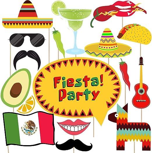 Amazon.com: Cinco de Mayo Photo Booth props – 33 ct mexicano ...