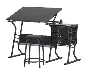 STUDIO DESIGNS Eclipse Craft Center in Black / Black 13365
