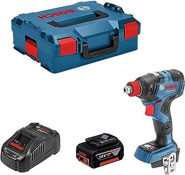 Bosch Professional 2 bater/ías x5,0 Ah, 18V, par de giro: 200/nm, en L-BOXX Atornillador de impacto GDX 18V 200 C