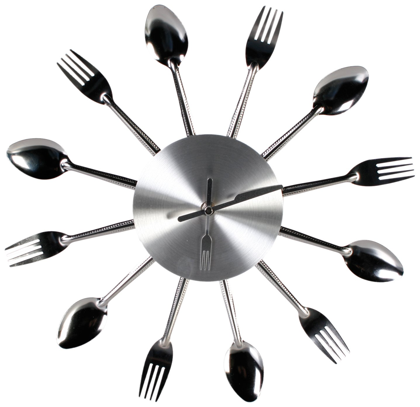 OOTB Large Aluminium Chrome Silver Kitchen Cutlery Fork Spoon Wall
