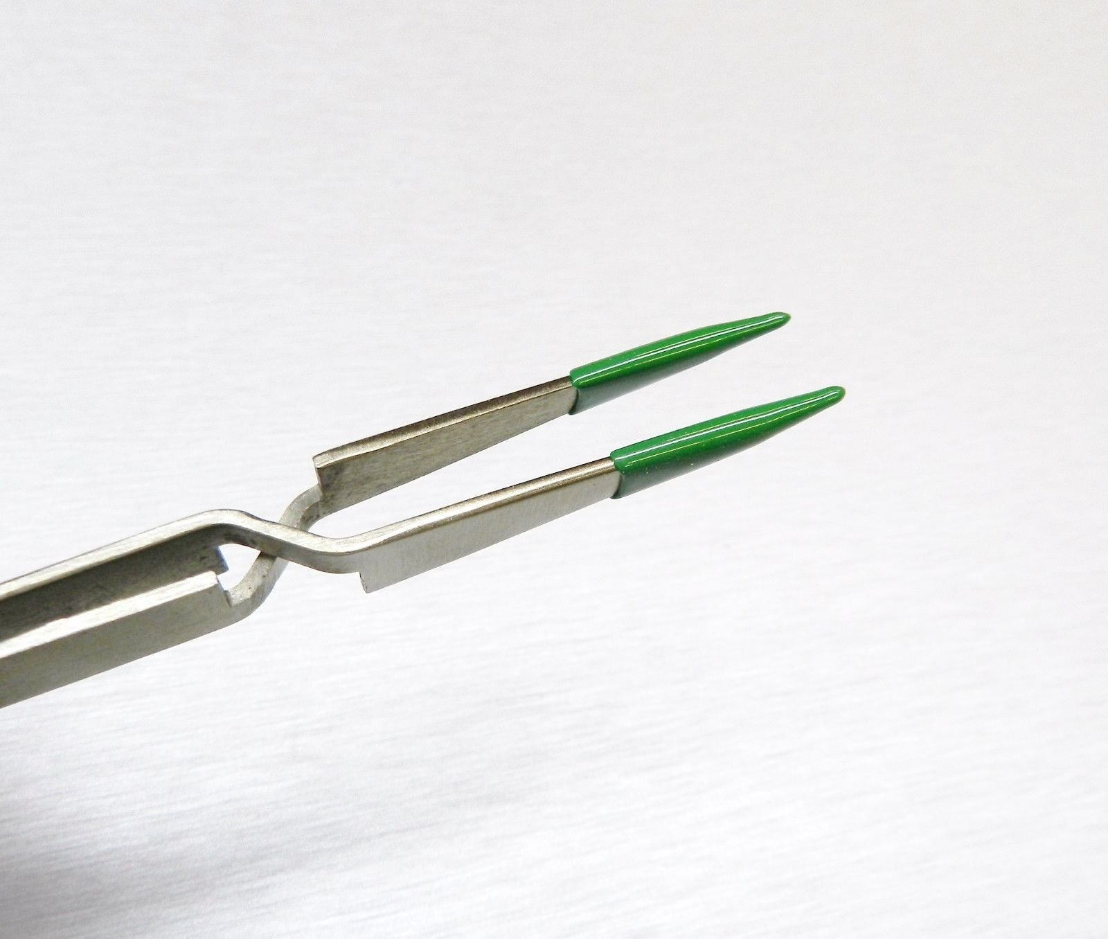 CROSS LOCK TWEEZERS LOCKING PVC COATED TIPS SAFE RUBBER TIP NON MARRING 4-3/4'' L (E2)