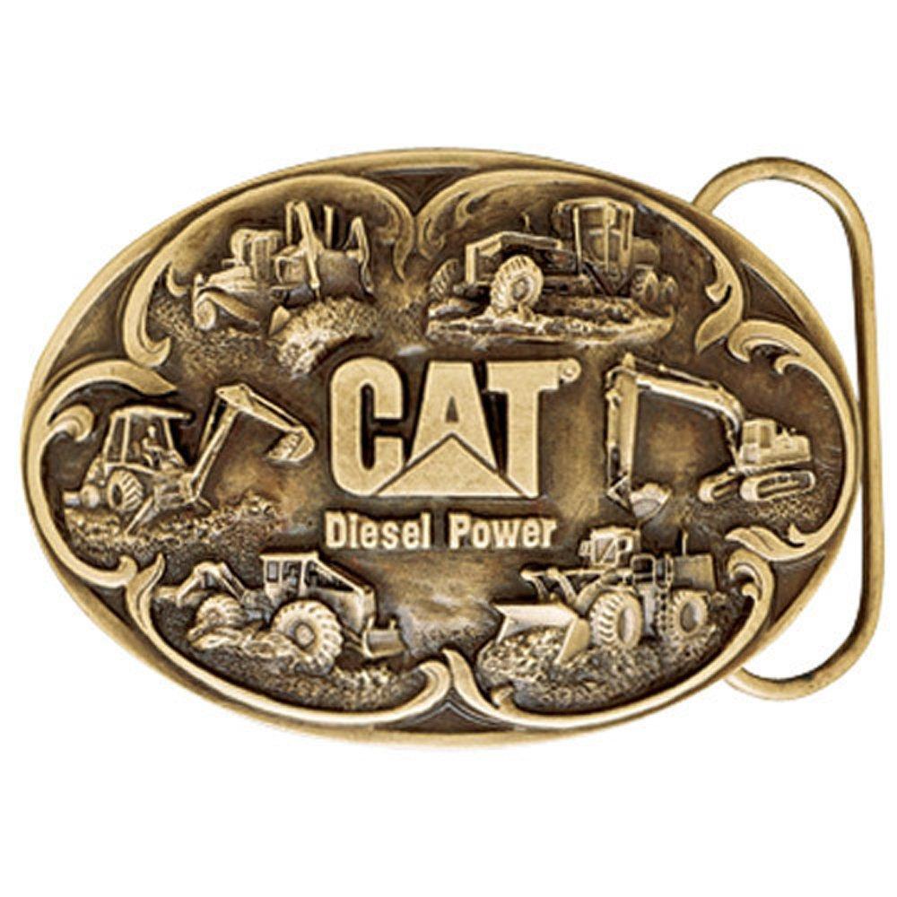 Caterpillar CAT Diesel Power Brass Finish Belt Buckle