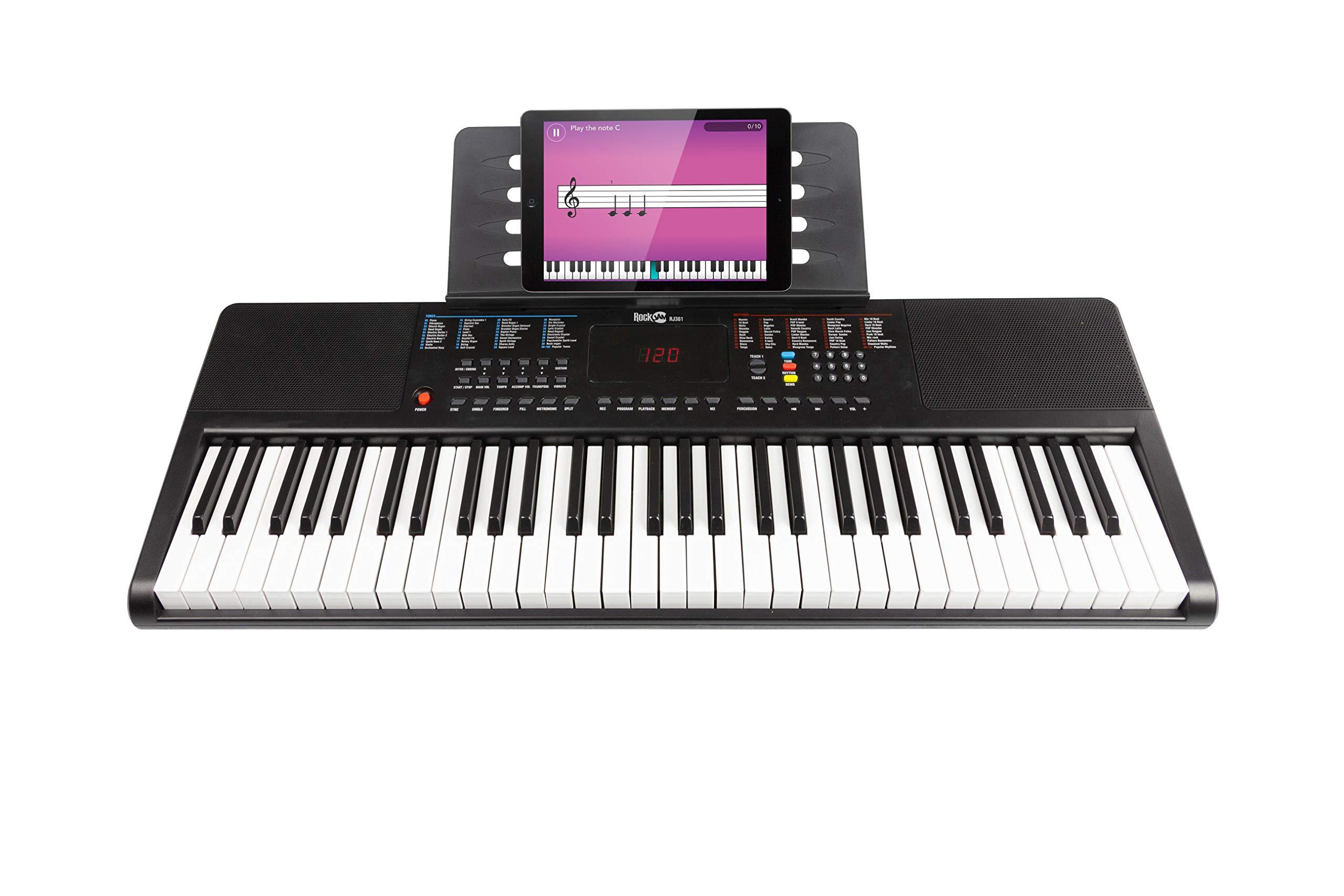 RockJam Portable Keyboard, 61 Key Piano (RJ361)