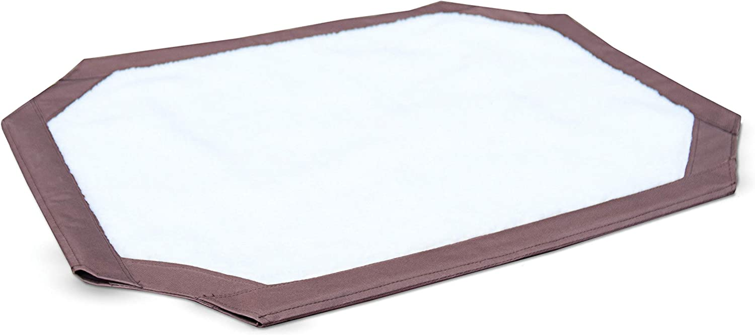 """K&H Pet Products Self-Warming Pet Cot Replacement Cover Large Chocolate/Fleece 30"""" x 42"""" (Cot Sold Separately) : Pet Supplies"""