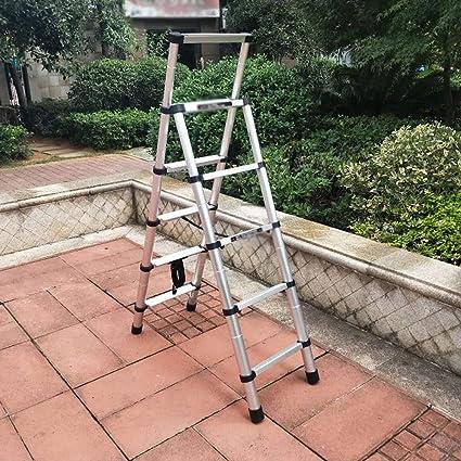 ZCF Escaleras de mano Escalera de Aluminio de Extensión Telescópica, A-marco Ligero Portátil Plegable Multiuso Diaria Del Hogar O de La Ingeniería: Amazon.es: Bricolaje y herramientas