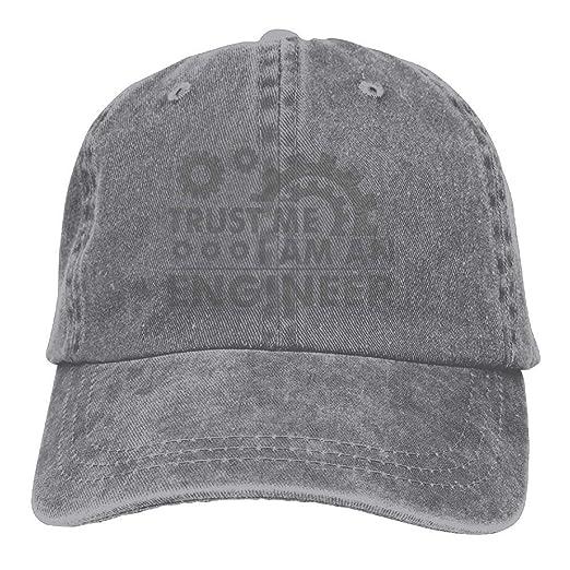 Trust Me I M an Engineer Denim Hat Adjustable Male Casual Baseball Caps 7860e5b0ee06
