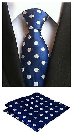 Amazon.com: mohslee traje de hombre lunares de color azul ...